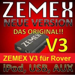 ZEMEX V3 ipod/iphone Adapter für Rover + Bluetooth + USB Anschluss