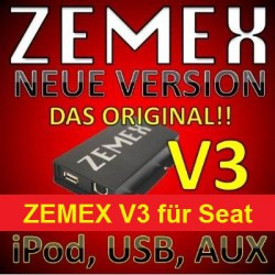 ZEMEX V3 ipod/iphone Adapter für Seat + Bluetooth + USB Anschluss