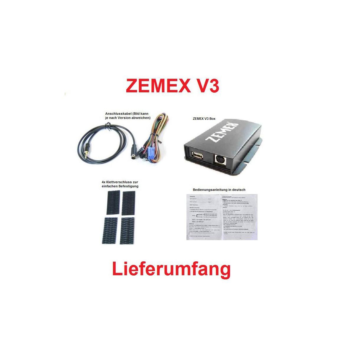zemex v3 bluetooth autoradio adapter f r acura. Black Bedroom Furniture Sets. Home Design Ideas