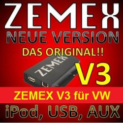 ZEMEX V3 ipod/iphone Adapter für VW + Bluetooth + USB Anschluss