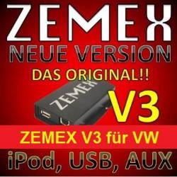 ZEMEX V3 ipod/iphone Adapter für VW + Bluetooth + USB Anschluss