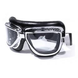 Motorrad Brille Fliegerlook chrom