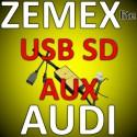 ZEMEX lite USB SD MP3 Aux Adapter Audi RNS-E Concert Chorus