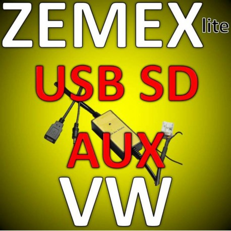 ZEMEX lite USB SD MP3 Aux Adapter VW Navi MFD,MCD,Gamma,Beta