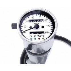 Mini Tachometer 2:1 weiss 60 mm