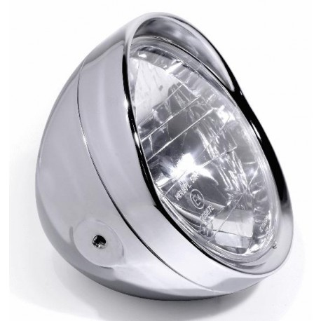 6 1/2 Zoll Scheinwerfer Klarglas chrom Visor seitenbefestigt