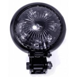 Rücklicht LED Bates Style Schwarz weisse Scheibe