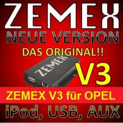 ZEMEX V ipod/iphone Adapter für Opel + Bluetooth + USB Anschluss