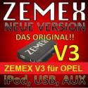 ZEMEX V ipod/iphone Adapter für Opel + Bluetooth + USB Anschluss